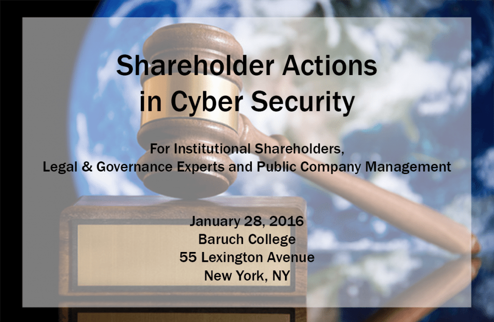 Shareholder Actions in Cyber Security
